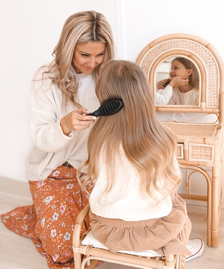 Our place offer happy hair brush
